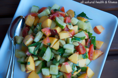 Chopped Peach & Avocado Salad